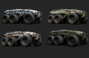 technical vehicle transporter unreal 3D model