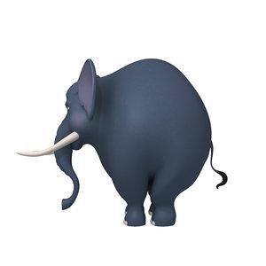 3D model elephant cartoon