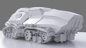 3D mars rover