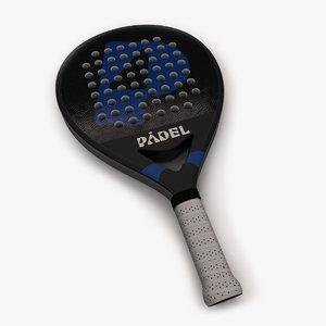 racket pala grip 3D model