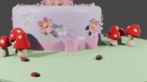 3D cake cute model