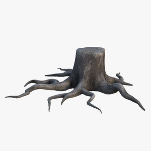 oak stump 3D
