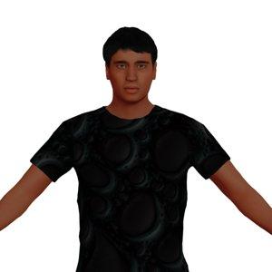 3D adult man named charlie model