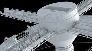 sci-fi space station apogee 3D