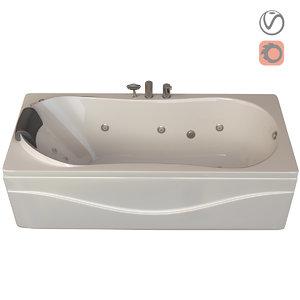 3D model bathtube 780 ariana