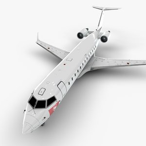 djibouti bombardier crj 200 3D model