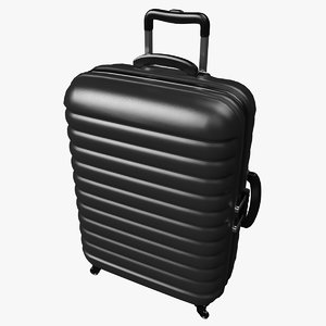 suitcase travel baggage 3D model