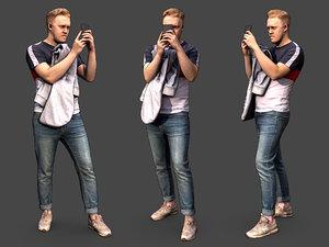 3D model stylized character