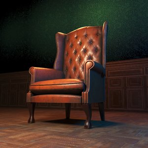 old lather chair 3D model