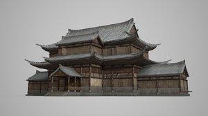 3D asian ancient palaces