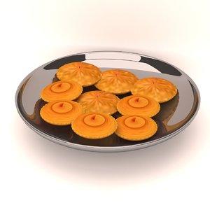 cake pitha food 3D model