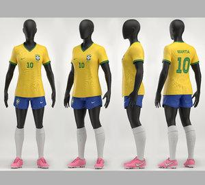 3D women soccer model