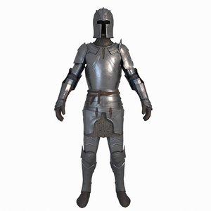 knight armor armour 3D model