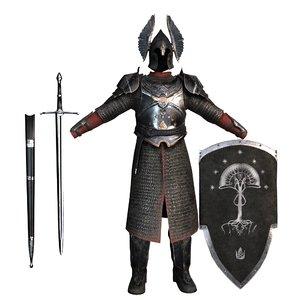 3D european armor