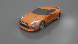 3D model nissan gt-r 2020