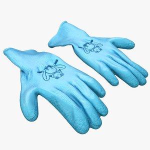 3D gardening gloves