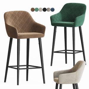 antiba bar stool onix 3D model