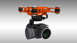 splashdrone gimbal camera 3D model