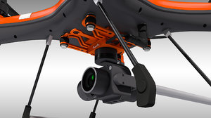 3D model splashdrone 3 gimbal camera