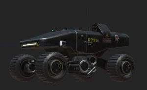 3D mars military transporter vehicle