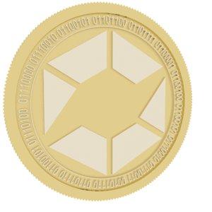 swe token gold coin 3D model