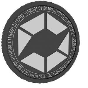 swe token black coin 3D model