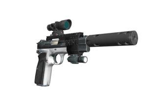 browning gp-35 pistol 3D