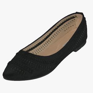 3D women casual ballerina shoes