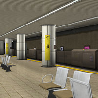 Japanese Subway Station Platform