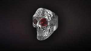 3D skull ring arnold schwarzenegger model