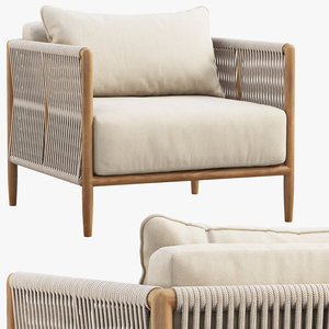 3D model brown jordan maldives lounge chair