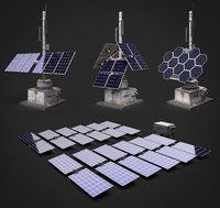 Solar panels SET for Games 8K Textures