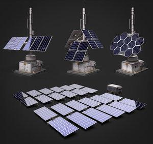 solar panels set model