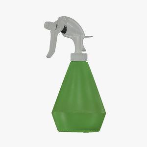 3D model water spray bottle 01