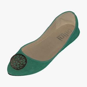 women casual ballerina shoes 3D model