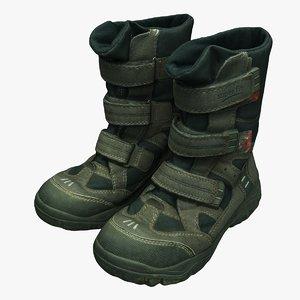 3D boots shoes kids