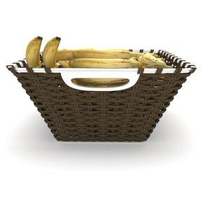 wicker banana fruit basket model