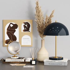 decorative set zara home 3D model