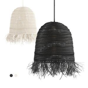 3D cosydar raphia lamp