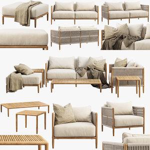 3D brown jordan maldives outdoor furniture model
