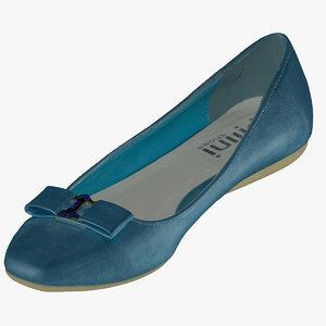 women casual ballerina shoes 3D