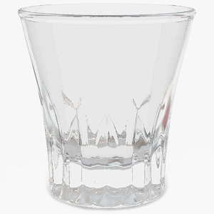 3D faceted shot glass