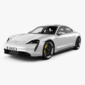porsche taycan turbo 3D model