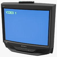 Sony KV-27S46 Retro CRT TV with IR Control On