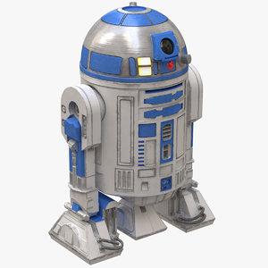 r2 d2 robot 3D model