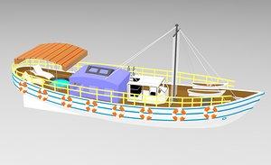 3D ship boat vehicle