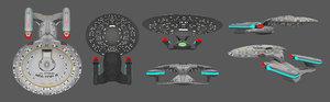 uss 1701-d 3D model