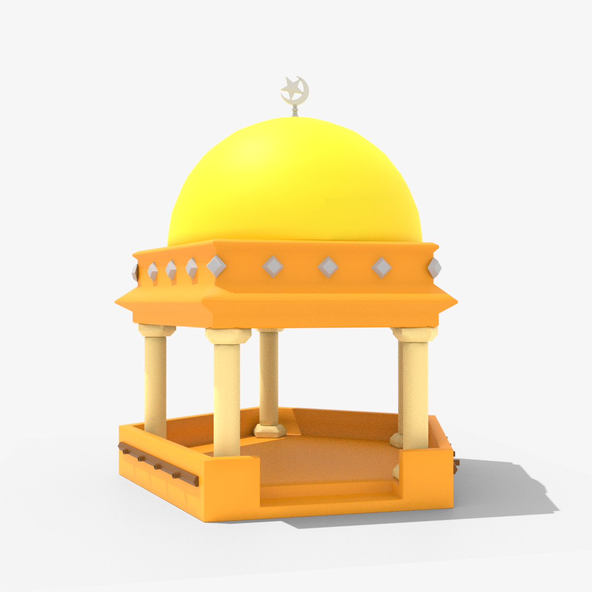 mosque animation 3D model