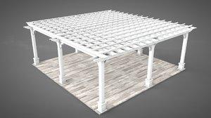 3D pergola trellis architecture model