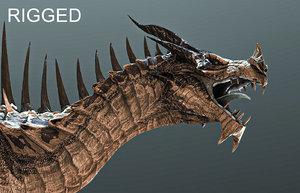 3D spikey dragon